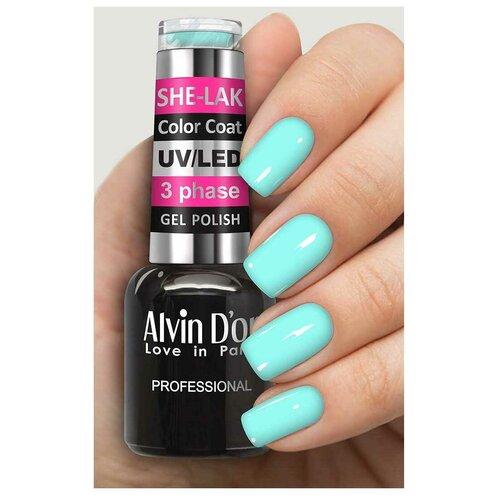 Купить Гель-лак для ногтей Alvin D'or She-Lak Color Coat, 8 мл, 35136