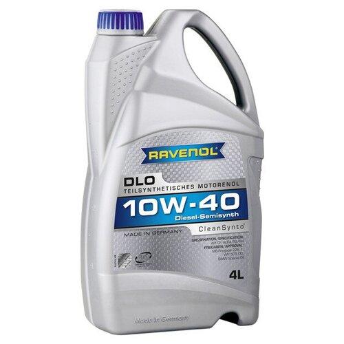 Полусинтетическое моторное масло Ravenol DLO SAE 10W-40, 4 л моторное масло ravenol dlo sae 10w 40 1 л