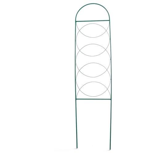Шпалера 130 х 34 х 1 см, металл, зеленая,