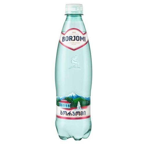 Минеральная вода Borjomi газированная, ПЭТ, 0.5 л минеральная вода borjomi газированная пэт 6 шт по 1 л