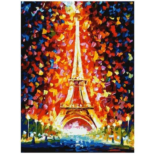 Белоснежка Картина по номерам Париж - огни Эйфелевой башни 30х40 см (026-AS) картина постер в раме postermarket эйфелевой башни 27х32см