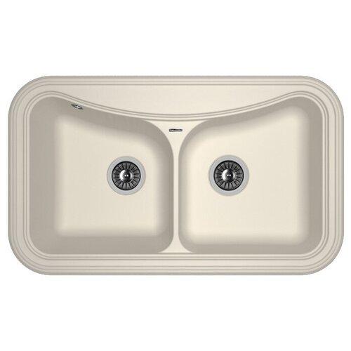 Врезная кухонная мойка 86 см FLORENTINA Крит-860 FS жасмин врезная кухонная мойка 86 см florentina крит 860 fs бежевый