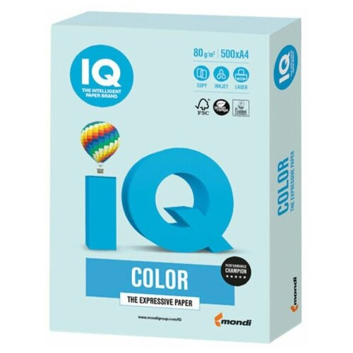 Фото - Бумага IQ Color A4 80 г/м² 500 лист., светло-голубой BL29 бумага iq color a4 80 г м² 250 лист 5 цв х 50 л тренд rb03