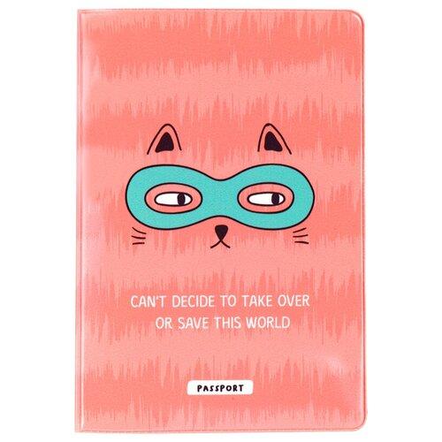 Обложка для паспорта MESHU Spy cat, розовый