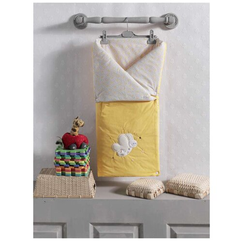 Купить Конверт-одеяло Kidboo Butterfly 90 см желтый, Конверты и спальные мешки