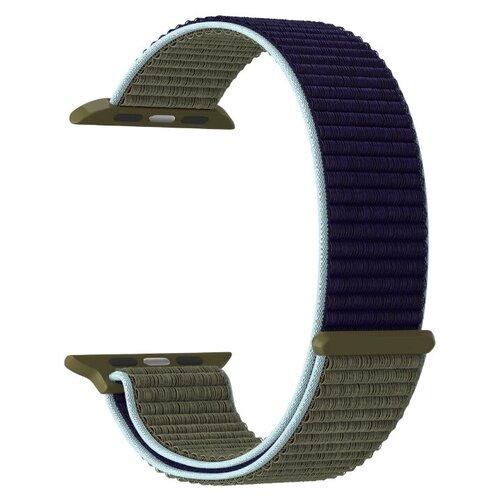 Фото - Нейлоновый ремешок для Apple Watch 42/44 mm LYAMBDA VEGA DS-GN-02-44-46 Khaki-blue нейлоновый ремешок для apple watch 42 44 mm lyambda vega ds gn 02 44 6 gray white