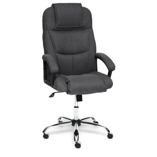 Компьютерное кресло TetChair Бергамо (крестовина хром, обивка ткань) для руководителя, обивка: текстиль, цвет: серый