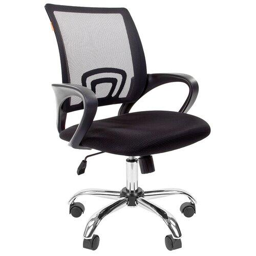 Компьютерное кресло Chairman 696 chrome офисное, обивка: текстиль, цвет: черный TW-11/черный недорого