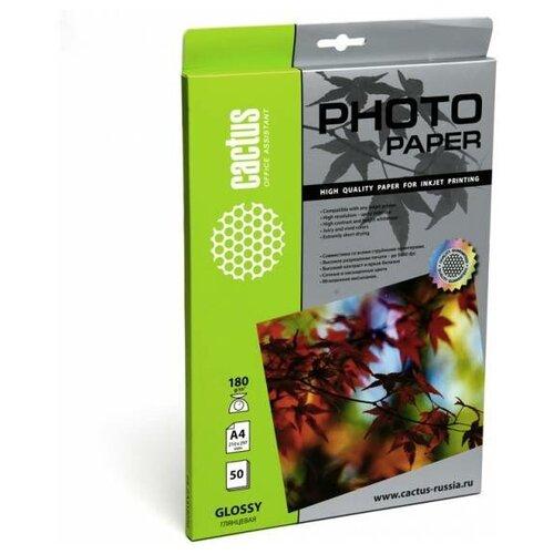 Фото - Бумага cactus А4 CS-GA418050 180 г/м² 50 лист., белый бумага cactus cs ma422020ds а4 220г кв м матовая 20л