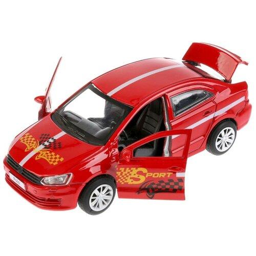 Легковой автомобиль ТЕХНОПАРК Volkswagen Polo Спорт (POLO-S), 12 см, красный