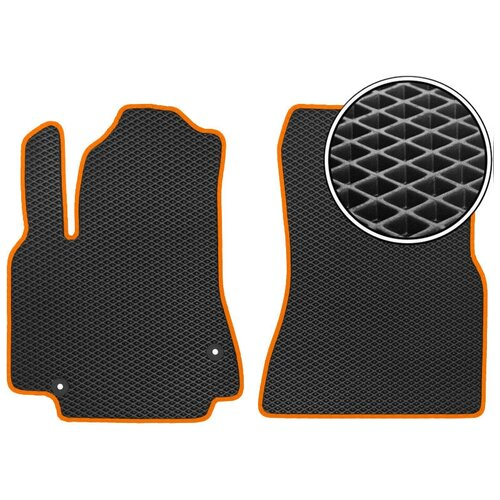 Комплект передних ковриков ЕВА Zotye T600 2013 - н.в. (оранжевый кант) Vicecar