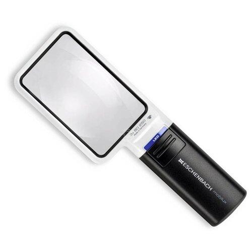 Фото - Лупа на ручке асферическая Eschenbach Mobilux LED 3x, 90x54 мм, с подсветкой лупа асферическая ручная с подсветкой eschenbach mobilux led диаметр 35 мм 10 0х 38 0 дптр