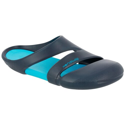 Шлепанцы для бассейна мужские сине-бирюзовые CLOG 500, размер: 38/39, цвет: Синий Графит/Сине-Бирюзовый NABAIJI Х Декатлон