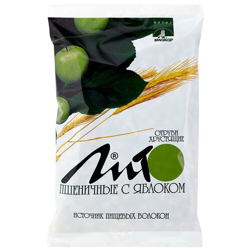 Отруби Лито пшеничные хрустящие с кальцием и яблоком, 200 г отруби сибирские пшеничные с черникой 200 г