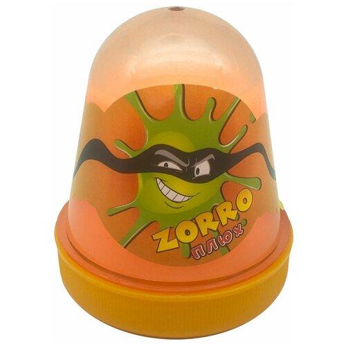 Лизун Плюх Zorro оранжевый лизун плюх зефирка лимон желтый