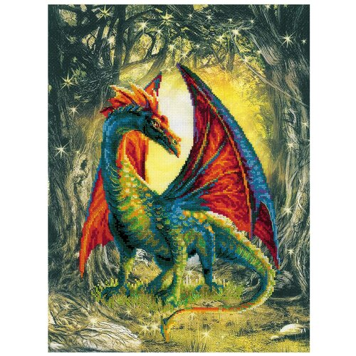 Купить Риолис Набор для вышивания Лесной дракон 40 х 30 см (0057 РТ), Наборы для вышивания