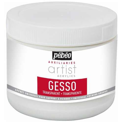 Грунты PEBEO Грунт акриловый прозрачный Gesso Studio 523850 500 мл .