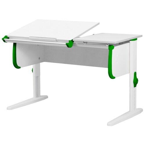 Фото - Стол детский ДЭМИ СУТ 25 120x55 см белый/зеленый/белый стол дэми white double сут 25 01д 120x82 см клен зеленый бежевый