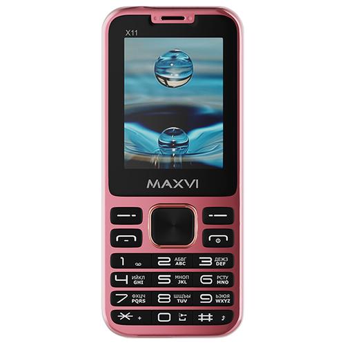 Телефон MAXVI X11 розовое золото