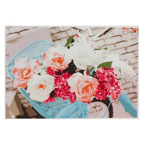 рыжий кот картина по номерам сиреневые и белые цветы 30x40 см х 3712 Рыжий кот картина по номерам Нежные цветы на велосипеде, 30х40 см (Х-9041)