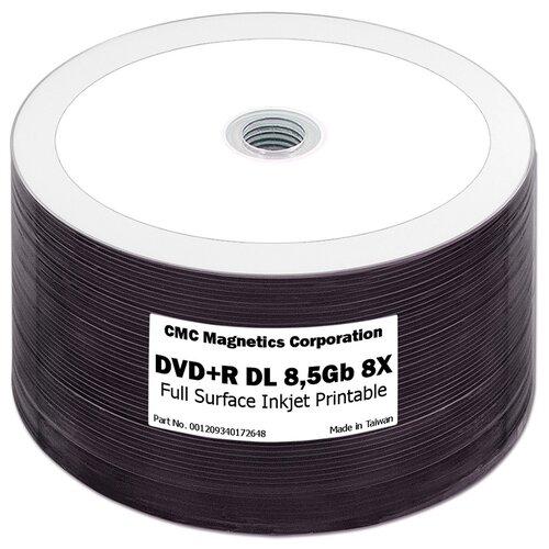 Фото - Диск DVD+R 8,5Gb CMC 8x Printable bulk 50 шт. диск bd r 50gb cmc 6x full printable bulk упаковка 10 штук