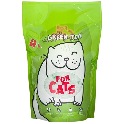 Фото - Впитывающий наполнитель For Cats с ароматом зеленого чая (4 л) 4 л впитывающий наполнитель for cats с ароматом зеленого чая 4 л