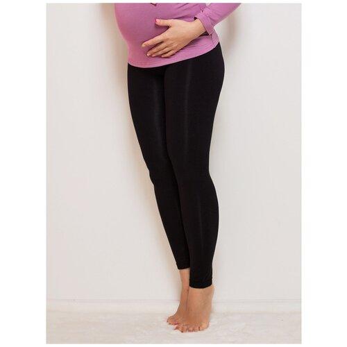 Леггинсы Viva Mama тонкие черные на живот для беременных (50)