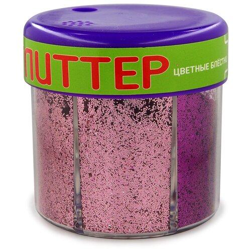 Купить Глиттер для декора с дозатором №6, 60 грамм, красный (6 цветов), Альт, Декоративные элементы и материалы