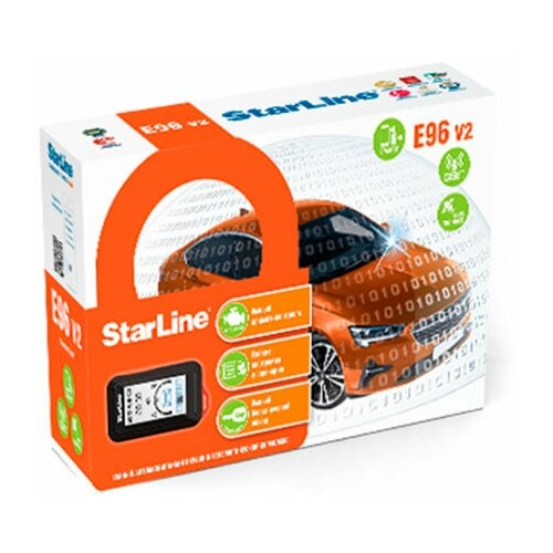 Автомобильная сигнализация Starline E96 BT 2CAN 4LIN 2SIM GSM-GPS v2