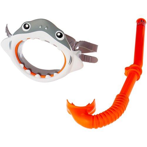 Фото - Набор для плавания Intex Shark fun серый / оранжевый набор для плавания intex aqua pro серый