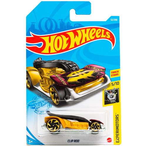 Hot Wheels Базовая машинка Clip Rod, желто-красная mattel базовая машинка hot wheels tesla model 3