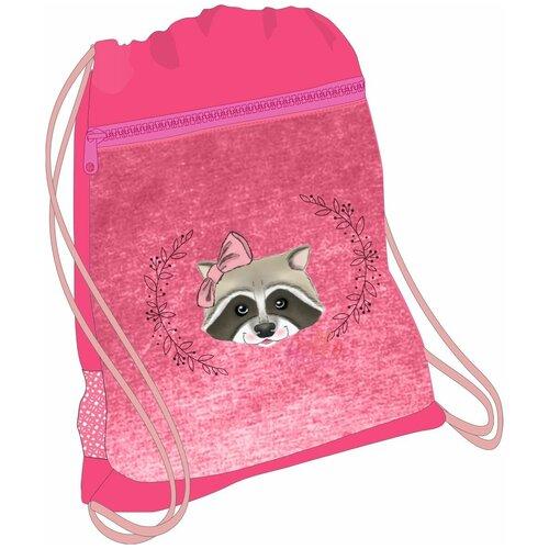 Belmil Мешок-рюкзак для обуви Miss Racoon 336-91/607, розовый мешок для обуви belmil robot
