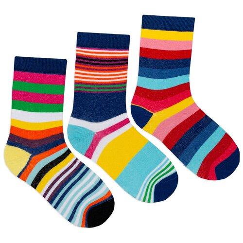 Комплект женских носков с принтом lunarable Полоски, синие, голубые, красные, желтые