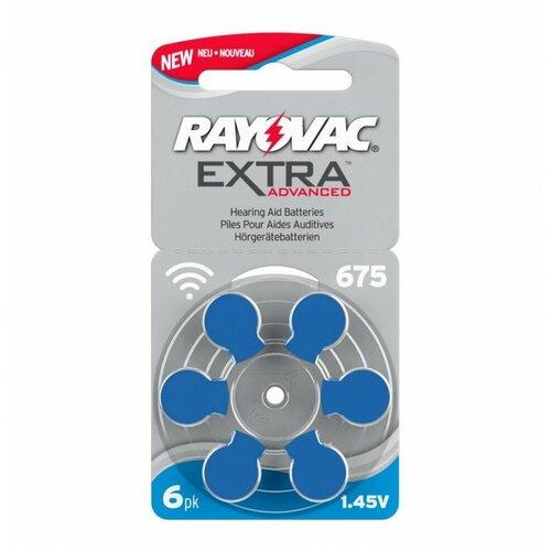 Батарейка RAYOVAC Extra ZA675, 6 шт. батарейка perfeo za675 6 шт