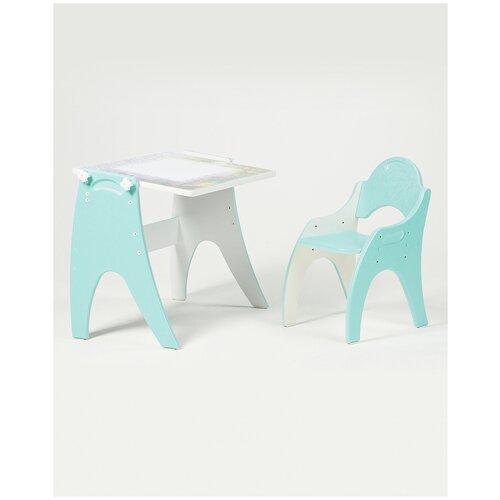 Набор детской мебели ТЕХ кидс трансформер Бирюзовый День-Ночь