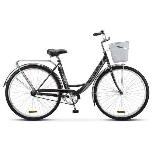 велосипед stels navigator 340 28 z010 20 черный Городской велосипед Stels Navigator 340 28 Z010 (2020) 20 черный + корзина (требует финальной сборки)