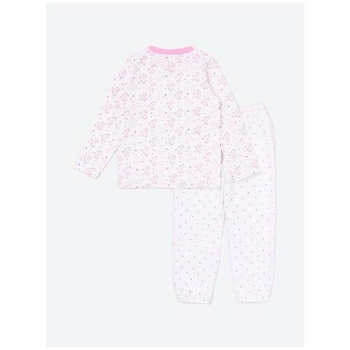 Пижама: Джемпер, брюки КотМарКот, 2691228 (размер 86, цвет Белый) пижама double trouble белый оранжевый 86 размер