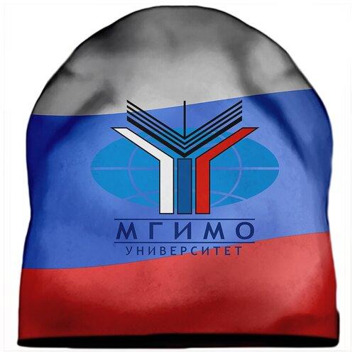 Шапка мужская МГИМО Эмблема на триколлоре