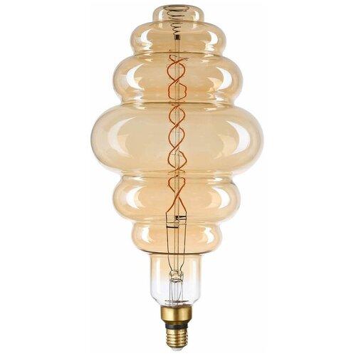 Лампа светодиодная филаментная Thomson E27 8W 1800K вздутая прозрачная TH-B2185 лампа thomson светодиодная филаментная e27 4w 1800k цилиндр прозрачная th b2199