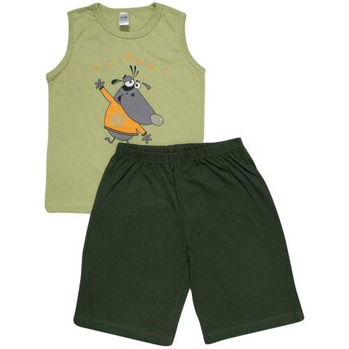 Купить Пижама Клякса размер 116, зеленый, Домашняя одежда