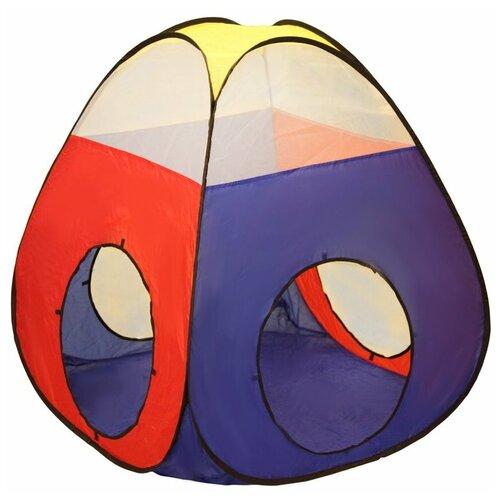 Фото - Палатка Наша игрушка Конус 985-Q75, синий/красный/желтый палатка jian hong замок принца 200280835 синий желтый