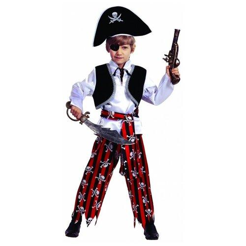 Купить Костюм Батик Пират (7012), белый/красный/черный, размер 146, Карнавальные костюмы