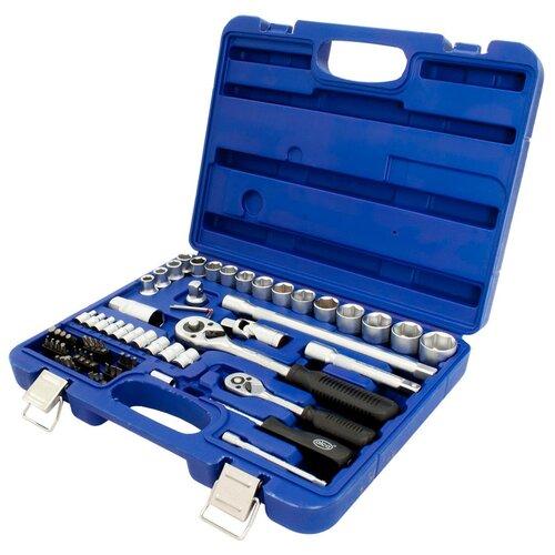 Фото - Набор автомобильных инструментов ALCA 414100, 72 предм., синий набор автомобильных инструментов союз 1048 10 s58c 58 предм синий