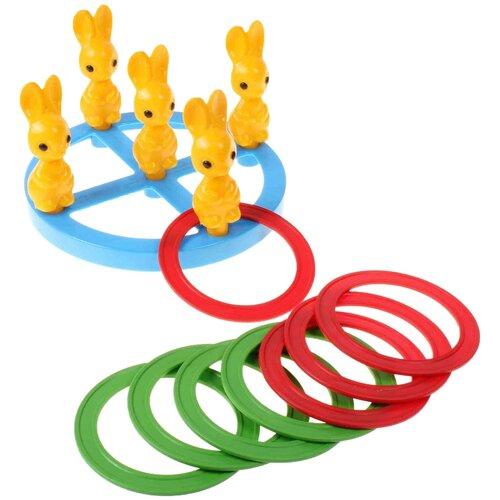 Купить Кольцеброс Пластмастер Зайчики (40013), Спортивные игры и игрушки