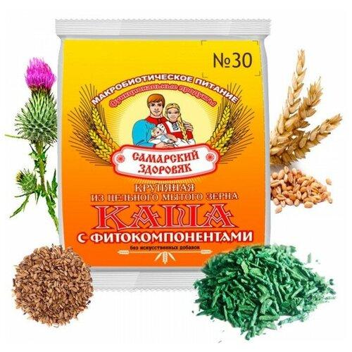 Самарский здоровяк Каша №30 пшеничная с расторопшей и спирулиной, 240 г