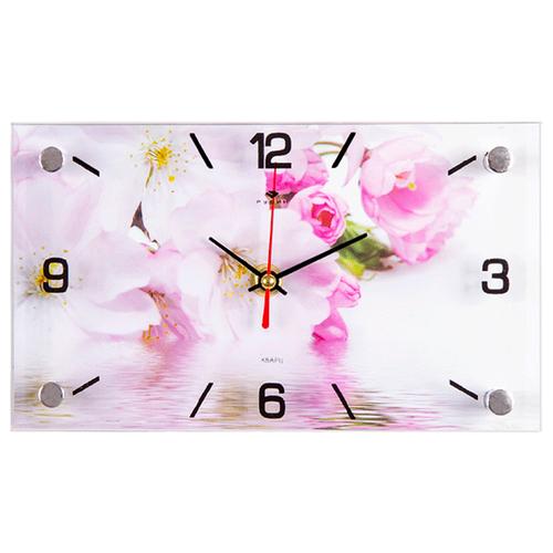 Часы - картина Яблоневый цвет, 22х13 см