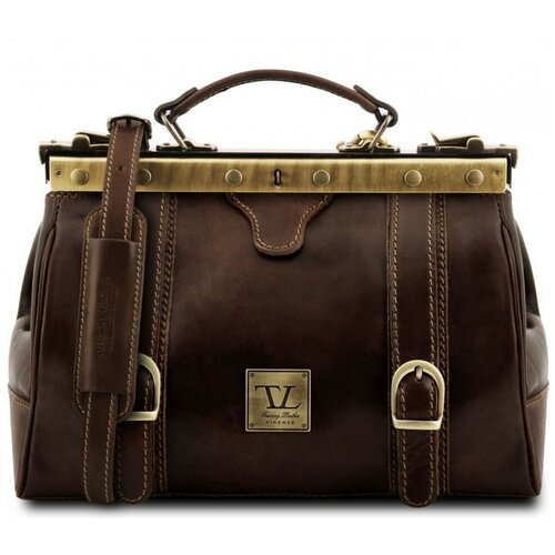 Кожаный саквояж Tuscany Leather Monalisa TL10034 Темно-коричневый