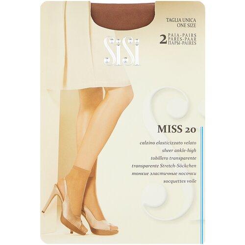 Капроновые носки Sisi Miss 20 den New, 2 пары, размер 0 ( one size), daino
