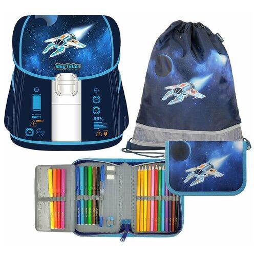 Купить Ранец школьный Magtaller EVO Light, Spaceship c наполнением: мешок + пенал 27 предметов, Рюкзаки, ранцы