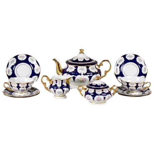 Сервиз чайный Соната Элегантный орнамент, на 6 персон, 15 пр., Leander